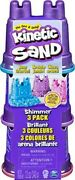 2 Packs 3 Pk Kinetic Sand Single Container Shimmering Sand W/ Sandcastle Mold
