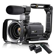 4k Video Camera Camcorder With Microphone 48mp Vlogging Camera For Youtube