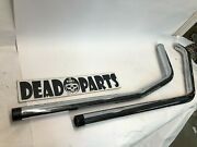 Harley Evo 1 3/4 Black Tip Softail Exhaust Drag Pipes
