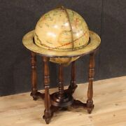 Globe In Painted Wood Furniture Vintage Side Table Antique Style 20th Century