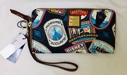 Bnwt Disney Cruise Line Dcl Dooney And Bourke Itinerary Europe Wristlet Wallet Bag