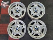 Oem Genuine Bmw 17 Style 24 Ltw Wheels E36 M3 Polished Staggered - Rare