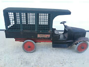 Original Buddy L 1920and039s Pressed Steel Railway Express Line Delivery Truck