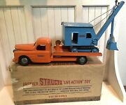1950andrsquos Structo Truck And Steam Shovel No. 402 With Original Box