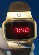 Mens Vintage 1970and039s Pulsar Digitaltime Computer Watch.free Shipping.