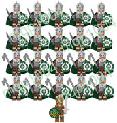 21pcs Lord Of The Rings Rohan Sword Long Axe Army Building Block Mini Figure Toy
