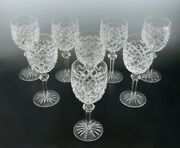 7 Waterford Powerscourt Cut Crystal Glass Wine Or Water Goblet 7 5/8