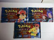 2000 Pokandeacutemon Topps Tv Animation Series 2 Factory Sealed Booster 3 Pack Lot