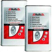 2 X Holts Professional Brake Clutch And Parts Cleaner Grime Degreaser Remover 5l