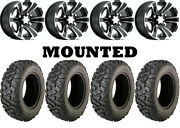 Kit 4 Moose Switchback Tires 25x8-12/25x10-12 On Itp Ss312 Black Wheels Can