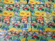 Vintage Elves Gnomes Fairy Mushroom Kids Wrapping Paper Lot Of 6 Birthday Happy