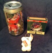 Coca Cola Items-bank Cap Top Ornam. 1978 Youand039re Real Thing Bear Ornam.