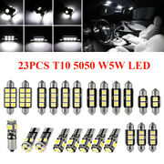 23x Car Interior Package Map Dome License Plate Mixed Led Light Accessories Kits