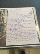 Oasis - Noel Gallagher Hand Written Lyrics Supersonic Signed To ,promo