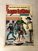 Lash Larue 60 Art Original Cover Proof 1956 Western Catches Bank Robber Whip