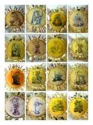 Christmas Ornaments Hummel Gold Collection 24kt Gold Plated Each 2.5x2.5