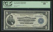 Fr784 5 1918 Frbn Philadelphia Note Pcgs 40 Xf Only 47 Recorded Wl8652