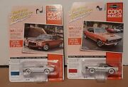 Johnny Lightning White Copo Muscle Lot Chevy Camaro 1970 1/2 Rs/z28 And 1968 Rs/ss
