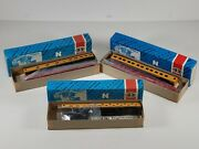 Vintage N Scale Union Pacific, Pullman, And Slumbercoach Observation Cars 3 Nos