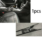 Carbon Fiber Replace Middle Console Water Cup Frame Trim For Ford Mustang 15-20