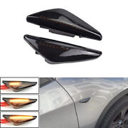 2xsequential Led Side Marker Turn Signal Lights For Bmw X5 E70 X6 E71 E72 X3 F25