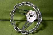 Vintage Chain Steering Wheel Inches Chrome Italy / List No.148