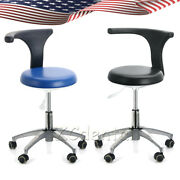 2 Colors Dental Dentist Doctor Assistant Stool Adjustable Mobile Working Chair