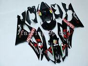 Gloss Black Red Abarth Abs Injection Fairing Kit Fit For 2008-2016 Yzf R6