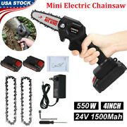 Mini Electric Chainsaw 4 Inch Cordless One-hand Saw With Rechargeable Battery