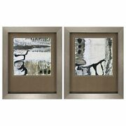 18 X 22 Silver Frame Glass Blower Set Of 2