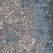 10and039x13and039 Silver Blue Machine Woven Abstract Smudge Indoor Area Rug