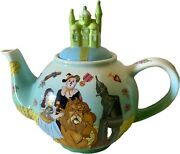 The Wizard Of Oz Classic Teapot With Emerald City Lid Rare Vintage 2004 Cardew