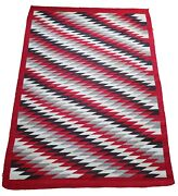 Antique Navajo Rug Dazzler Transitional Authentic Native American Early American