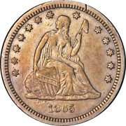 1865-s Seated Liberty Quarter Nice Xf Details Key Date Nice Eye Appeal