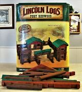 Lincoln Logs Fort Redwood 2007 Total Knex Play Set Complete With Instructions