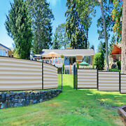 11ft Beige White Fence Privacy Screen Commercial 95 Blockage Mesh W/gromment