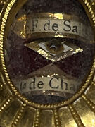 Anddagger Vintage Saint Francis Of Sale And Francis Of Chantel Relic Sealed Theca Holder Anddagger