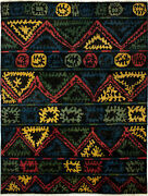 Hand-knotted 10and0392 X 13and0397 Shalimar Casual Contemporary Transitional Wool Rug