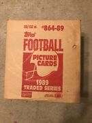 1989 Topps Traded Football Set Case 50 Sets Factory Sealed Unopened