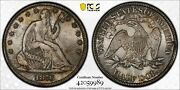 1876 With Motto Seated Liberty Half Dollar Pcgs Ms64 Lustrous And Truly Original