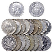 1965-1969 Kennedy Half Dollar Roll 40 Silver 10 Face 20 Us Coins Mixed Date