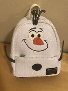 Nwt Disney Parks Loungefly Olaf Frozen Christmas Mini Backpack Purse Bag New