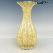 """10""""antique Chinese Song Dynasty Porcelain Official Porcelain Square Mouth Bottle"""