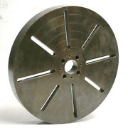 30 T-slotted Lathe Face Plate 4-bolt Mount