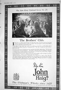 Antique Old Print 1923 John Haig Clubmans Whisky Brothers Club Land Series 25