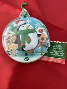 2007 Christmas Ornament Penguin Motion Activated Sings Song And Lights Up