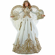 Katherineandrsquos Collection Christmas Gold Angel Tree Topper Brand New Rare