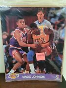 Magic Johnson 8x10 Photo Los Angeles Lakers Great For Autograph Nba Card