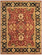 Vintage Hand-knotted Carpet 9'8 X 13'0 Traditional Oriental Wool Area Rug