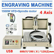 1.5kw Usb 4axis Cnc 6040 Router Engraving 3d Cutter Carver Machine+handwheel Dhl